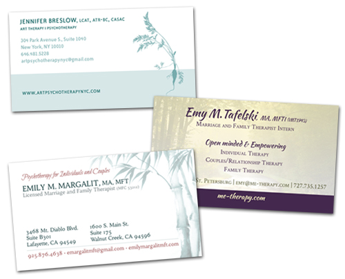 Business Card Design for Therapists