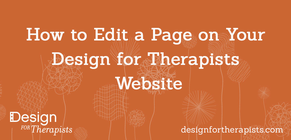 How to Edit a Page in the Avada Theme | Design for Therapists